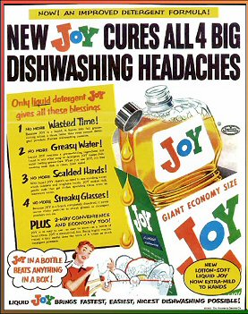Joy Cures all 4 big dishwashing headaches! Film at 11!